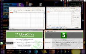 LibreOffice4.4.7(左)、5.0(右)
