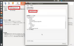 図1:webサイトはwww.shigizemi.comだが証明書でのドメインはpc.shigizemi.comとなっている。