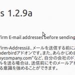 図16:図4で、「詳細」をクリックし、バージョンが1.2.9aになっていることを確認する。