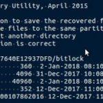 5-2-4:復旧したデータの保存先が別のハードディスクなので、「・・」を選択し、Enterを押す。